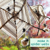 Thumbnail image for halloween DIY: yarn, sticks, & spider webs