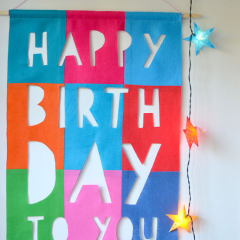 Thumbnail image for DIY: felt birthday banner {no sew}