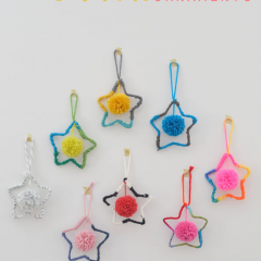 Thumbnail image for DIY: yarn star ornaments
