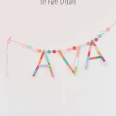 Thumbnail image for DIY name garland