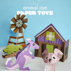Thumbnail image for animal jam paper toy printables – kimbara