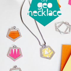 Thumbnail image for make it: geo necklaces DIY