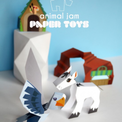 Thumbnail image for animal jam paper toy printables – coral canyon