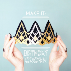 Thumbnail image for make it: glittering birthday crowns