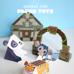 Thumbnail image for animal jam paper toys printables – lost temple of zios