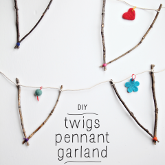 Thumbnail image for make: DIY twig pennant garland for Fall