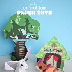 Thumbnail image for animal jam paper toy printables – Sarapiea Forest