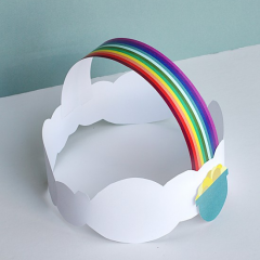 Thumbnail image for make this: st. patrick's day rainbow crown