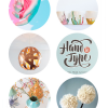Thumbnail image for round about: yarn dandelions & hand drawn letters