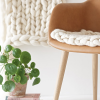 Thumbnail image for make it: handknit wool roving cushions