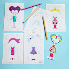 Thumbnail image for making paper dolls with hipfits