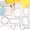 Thumbnail image for all new: plaeful erasable frames wall decals