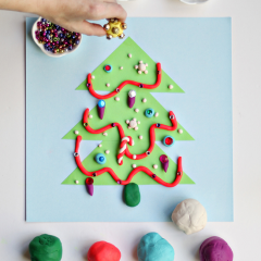 Thumbnail image for make it: play dough christmas tree activity