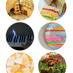 Thumbnail image for round about: rainbow sandwiches & failed legos