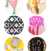 Thumbnail image for round about: x's, o's, and pom poms