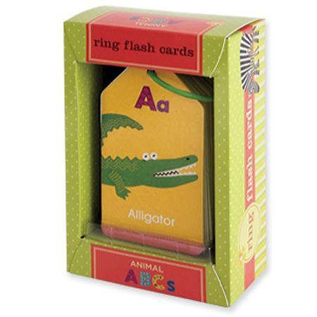 Animal ABC's Flash Cards Ring from Mudpuppy