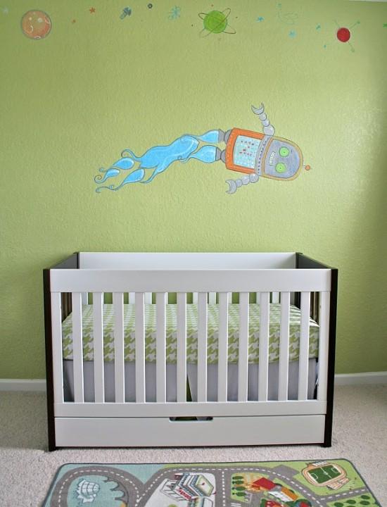 Spearmint Baby Blog Robot Nursery