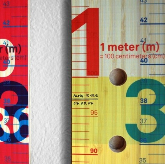 MeasureMe Stick Portable Wooden Modern Growth Chart