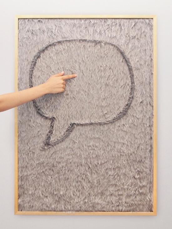 Unique kids fur message white board