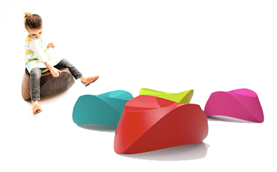 hut hut kids colored resin modern rocker stool