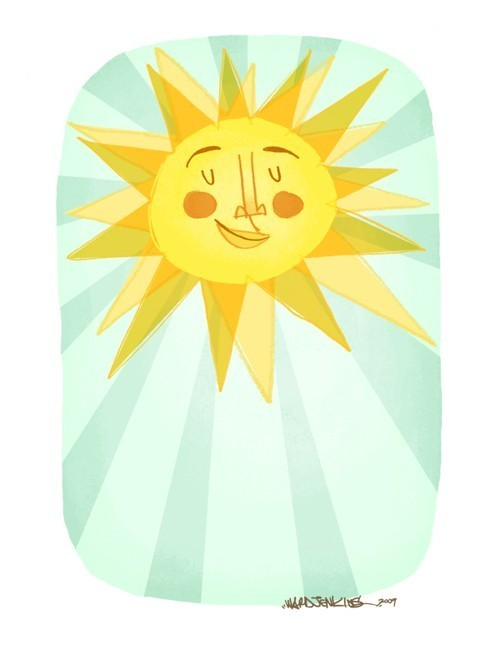 Wardomatic Sun Rays Sunshine Sky Illustration Print from Etsy