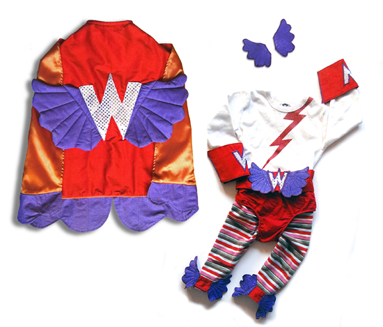 Handmade Super Hero Toddler Girl's Halloween Costume