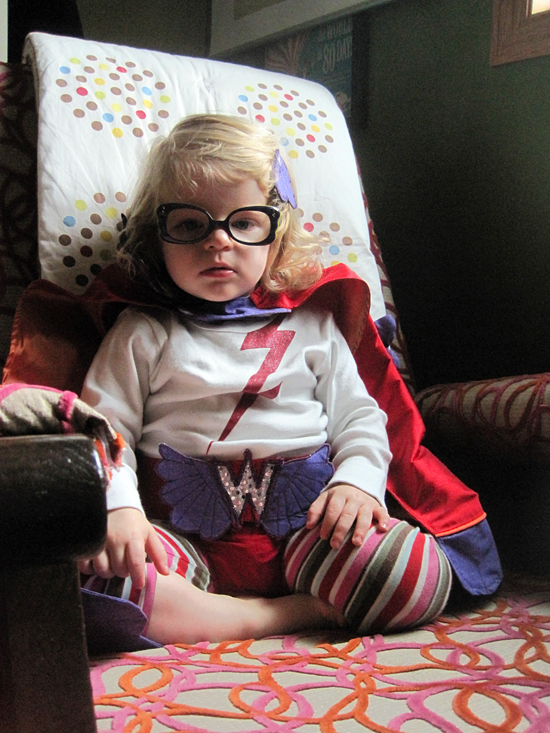 Handmade Superhero Toddler Costume