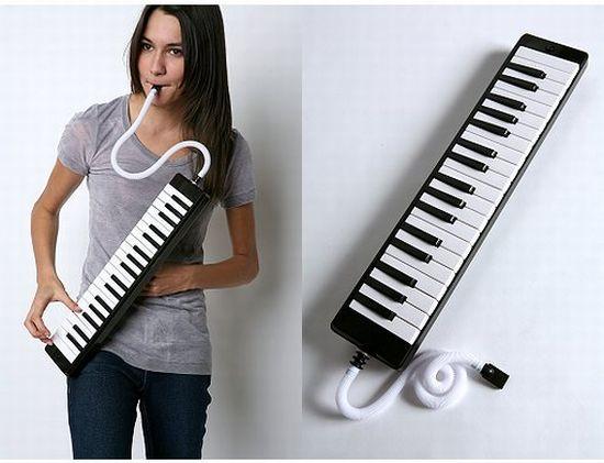 Retro Melodica Toy Piano Key Flute Blow Organ Small