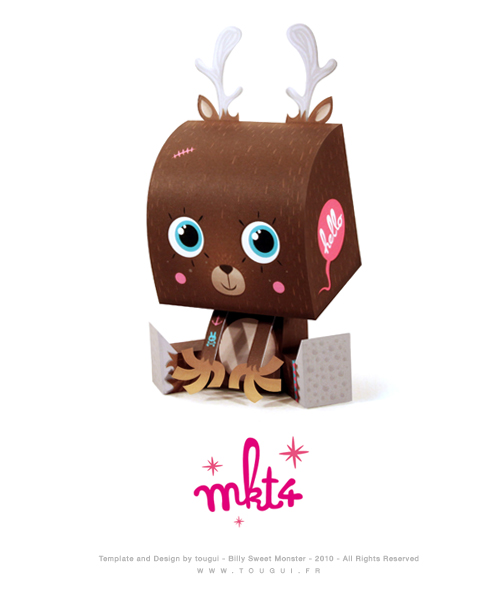 reindeer paper toy free downloadable christmas craft for hipsters paper toys - Free Christmas Toys