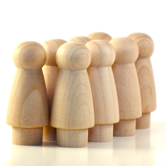Paint your own diy craft wood waldorf doll figures