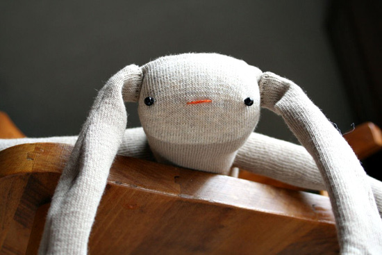 Handmade Sock Monkey Bunny from Charlie Designs on Etsy