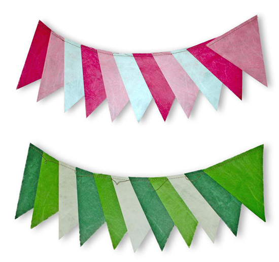 Hip Hooray Eco Garlands Reusable Party Pennant Banners