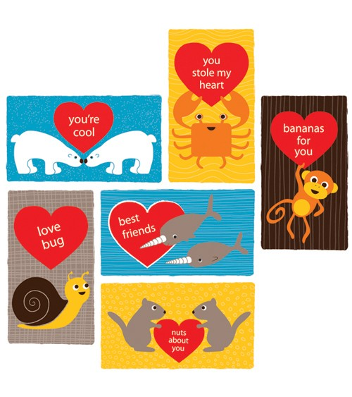 Top Downloadable Valentines Print and Give Valentines for Kids – Animal Valentine Cards