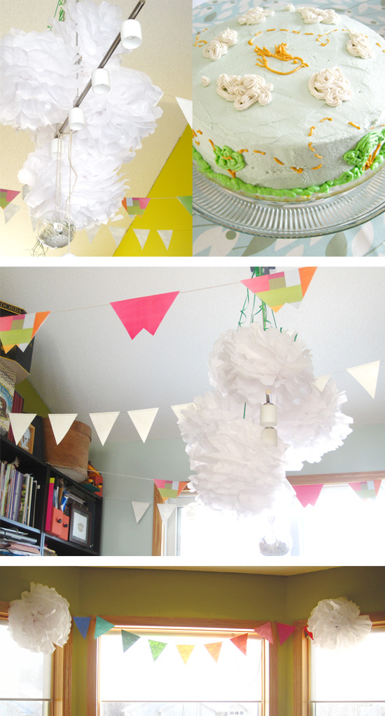 toddler girl's bird theme birthday party decor and favors