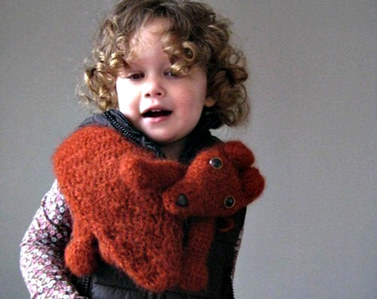 Handmade Kids Animal Scarf