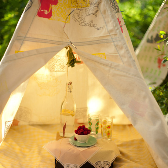 beautiful kids teepee play fort handmade on etsy