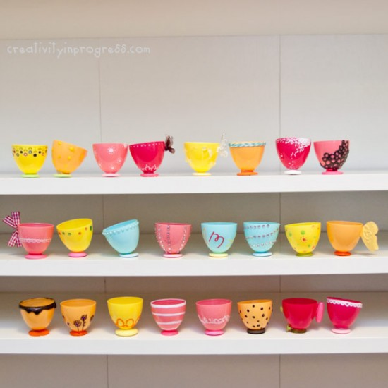 diy plastic teacups post easter crafting make your own tea set