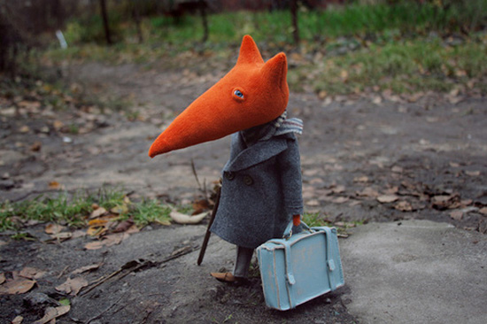 Handmade Fox Dolls By Russian Designer Nalogina Lubov