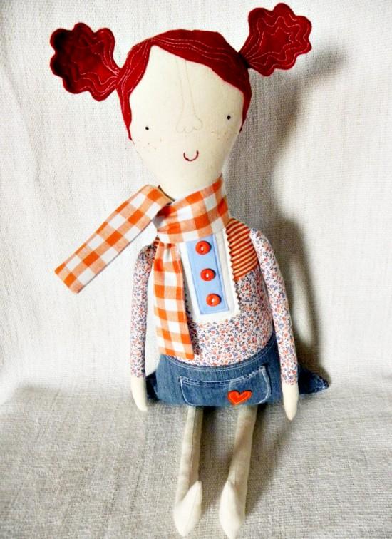 Kra Kra Crafts Handmade Recycled Eco-Friendly Girls Doll on Etsy