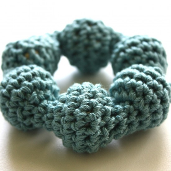Natural Eco-friendly Montessori Simple Baby Infant Handmade Cotton Crocheted Teether on Etsy