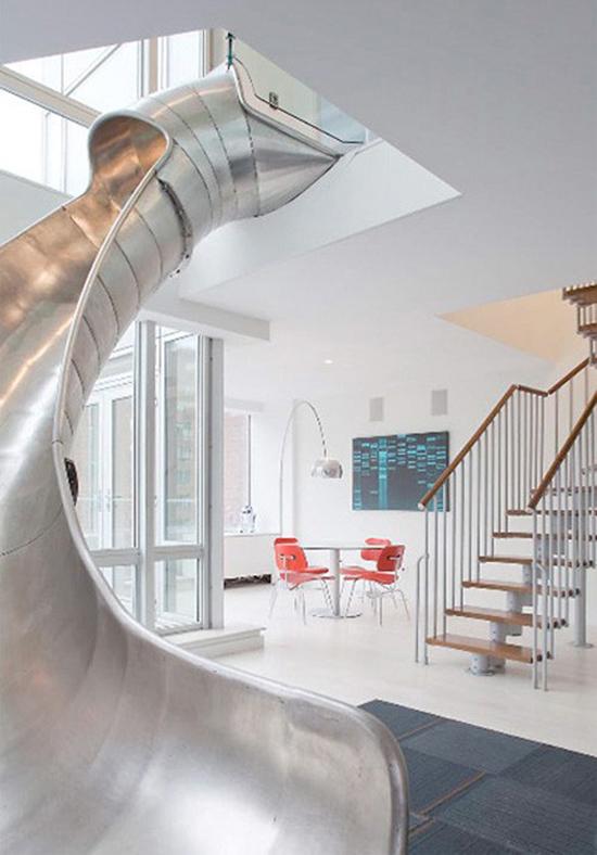 kid friendly rooms indoor slides modern designs for children