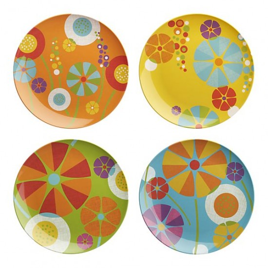 Crate and Barrel Pop Modern Retro Melamine Flower Plates for stylish kids  sc 1 st  Small for Big & Modern Melamine for Kids \u2013 Summer is the season for children\u0027s ...