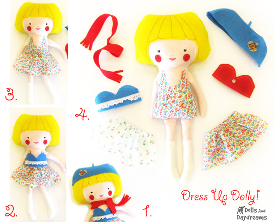 dolls and daydreams make your own stuffed doll and clothing PDF patterns on etsy