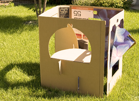 DIY Cardboard Playhouse – How to make collapsible playhouse ...
