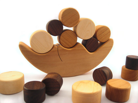 Smiling Tree Natural Wood Toys Organic Baby Teethers And