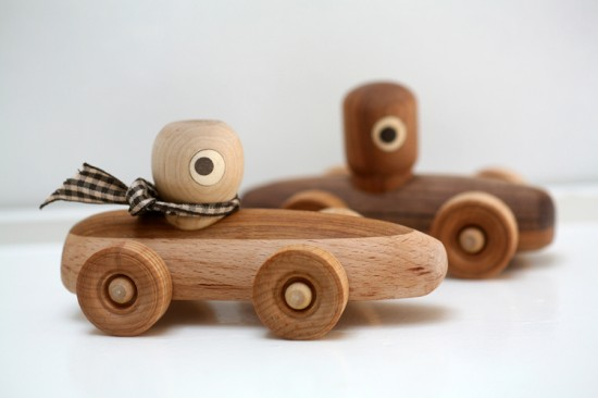 Noli Noli Handmade Wooden Rattles, Boats, Robots, and Race Cars for Infants and Kids