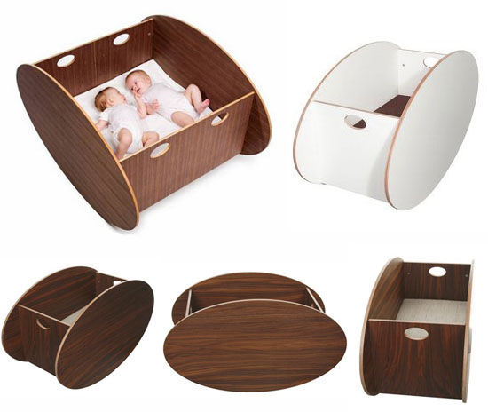 So-Ro Cradle for modern families, babies, twins and nurseries