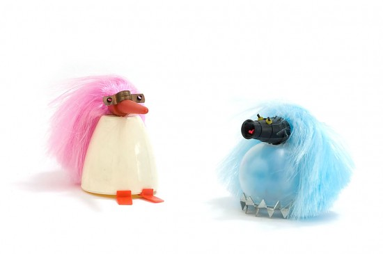 Carolien Adriaansche Recycled household products creature animal art from the Netherlands.