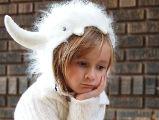 Handmade Custom Halloween Costume and Winter Yeti Hats for Kids and Adults, from Etsy