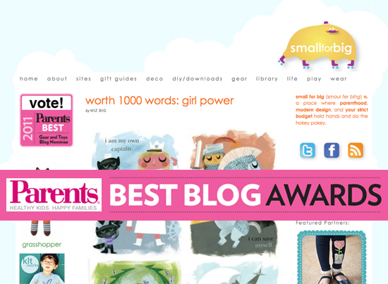 Small for Big Nominated in Parents.com Best Blogs Awards